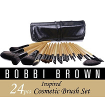 Brochas Profesionales Bobbi Brown Negro Cafe Set De 24