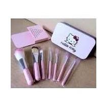 Set 7 Brochas Hello Kitty Con Estuche Metálico