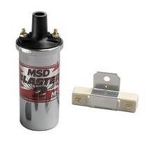 Bobina Cromada Msd Blaster 2 #8200 Universal 4,6 Y 8 Cil