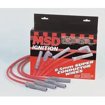 Cables De Bujias Msd 8.5mm P/ Motor 8, 6 Y 4 Cilindros