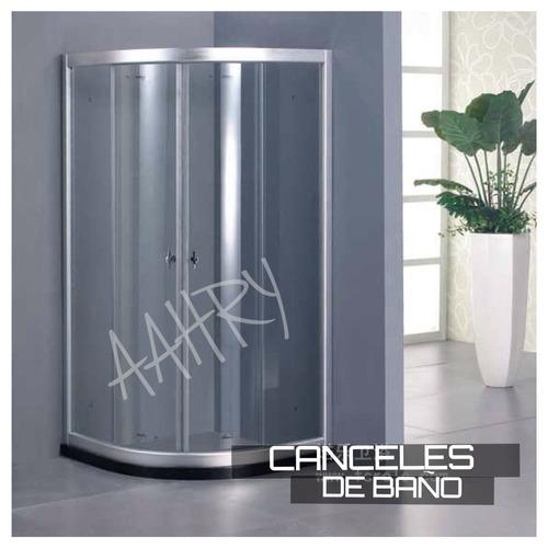 Cabina De Baño Con Tina:Cabina De Baño En Cristal Templado Y Cancel De Aluminio – $ 3,39900