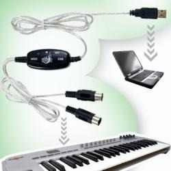 Cable Adaptador Usb A Interface De Teclado Pc Midi, Laptop