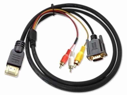 Cable Hdmi Rca Vga Hd Laptop Ultrabook Pc Pantalla