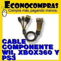 Cable Componente Para Wii, Xbox360, Ps3, Ps2 100%nuevo