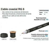 Cable Coaxial Rg-6 Voltech Rollo Con 100 M Dizome
