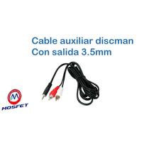 Cable Auxiliar De 2 Plugs Rca A Plug 3,5 Mm Para Estereo