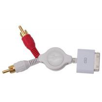 Cable Retractil De Audio Compatible Con Ipod. Iphone Y Ipad