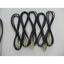 Cable Auxiliar Negro 1.80mts Audio Bocinas Estereo Pc Laptop