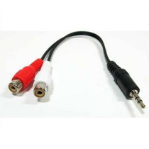 Hometheatre 3.5mm Macho A 2 Rca Hembra Del Cable Del Divisor