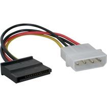 Cable Adaptador Corriente Molex-sata Macho-hembra
