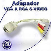 Cable Adaptador De Vga A Rca Supervideo Para Tv Nuevos!