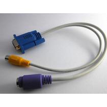 Cable Adaptador Vga A Tv Convertidor S-video