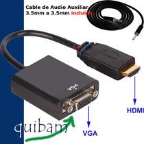 Convertidor Hdmi A Vga Audio Video Conecta Xbox Psp Ps3 A Tv
