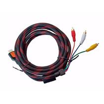 Cable Nylon Reforzado Hdmi A Rca