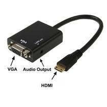 Convertidor Hdmi A Vga Audio Video Conecta Pc Al Proyector
