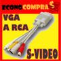 Cable Adaptador De Vga A Rca S-video Supervideo Para Tv Lcd