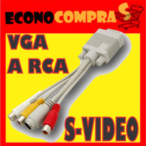 Cable Adaptador De Vga A Rca S-video Supervideo Para Tv Lcd