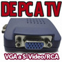 Adptador Convertidor De Vga A Rca S-video Tv Out De Pc A Tv