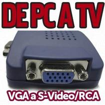 Adptador Convertidor De Vga A Rca S-video Tv Out De Pc A Tv
