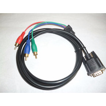 Cable Adaptador De Vga A 3 Rca Macho 1.5 M