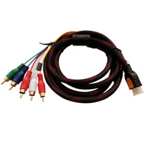 Cable Adaptador Hdmi A 5 Rca, Audio Y Video De 1.5 Metros