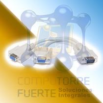 Cable Vga Db15 Splitter Tipo Y Para Dos Monitores Comtf