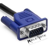 Cable Vga Macho-macho 1.5 M Genérico Para Proyector, Monitor