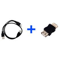 Cable Usb Y (i Griega) A A + Adaptador Usb Hembra - Hembra