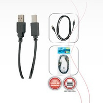 Cable Para Impresora 1.8 Mt., 4 Mm Usb A Macho Usb B Macho