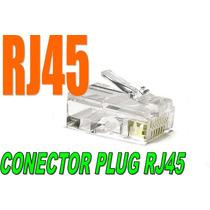 Plug Rj45, 100 Pzas, Internet, Redes, Ethernet, ,rj45, Fbn