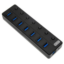 Hub Concentrador 7 Puertos Usb 3.0 Negro Con Switch
