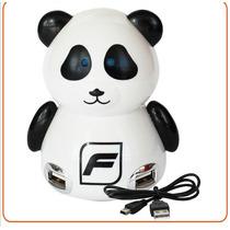 Conector De Puertos Usb Tipo Panda Practico Diseño 4 Puertos