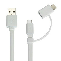 Lote 10 Cable Usb Dual 2 En 1 Android Iphone 5 6 6s Uso Rudo