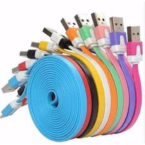 Cable Plano Iphone 5 6 Usb 2 Metros Ipod Ipad Mini Air Touch