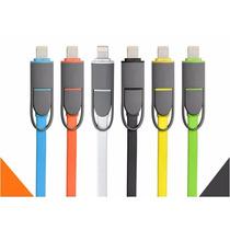 Cable Certificado 2 En 1 Iphone 5 5c 6 Ipad Samsung Android