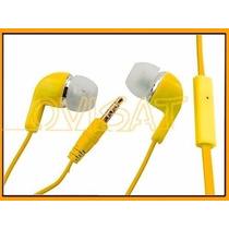 Manos Libres Audífonos Universal Colores Micrófono Plug 3.5