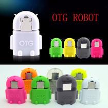 Adaptador Otg Micro Usb A Usb Robot Android Envío Económico