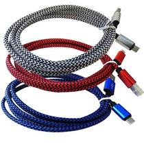 Cable Aluminio Usb Micro Usb Moto Htc Xperia 2m Colores