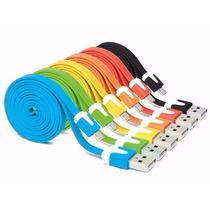 Mayoreo 20 Pzas Cables Plano Micro Usb Carga Y Datos