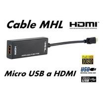 Cable Adaptador Mhl Micro Usb A Hdmi Para Samsung Galaxy,htc