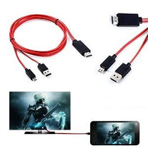Mhl Micro Usb A Hdmi 1080p Hdtv Adaptador De Cable Cable Par