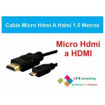 Cable Micro Hdmi A Hdmi Estandar Tablets Y Celulares A Tv