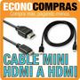 Cable Hdmi A Mini Hdmi 1.5 Mts. 1080p & 720p 100% Nuevo