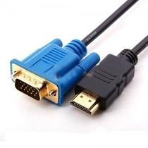Cable Hdmi A Vga Hd-15 Macho-macho Monitor 1.5metros Laptop