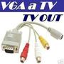 Cable Adaptador Vga A Tv 3 Rca Convertidor Cable Pc
