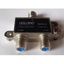 20 Divisor D Señal Coaxial Holland 2 Y 3 Salidas Vetv Cablem