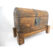 Baúl Rústico Porta Botella.madera De Pino. Excelente Calidad
