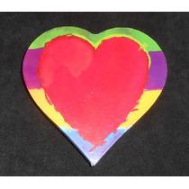 Caja De Cartón En Forma De Corazón, Colores