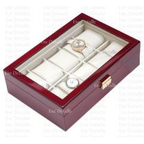 Caja - Estuche De Madera Para Guardar 10 Relojes