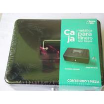 Caja Metálica Para Dinero Cerradura Cromada 30x24x9cm